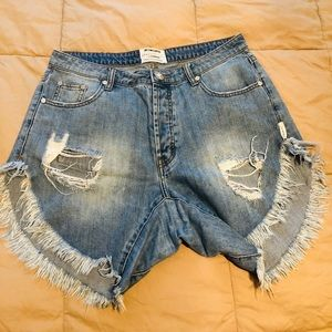 One X Oneteaspoon Jean Shorts Size 28